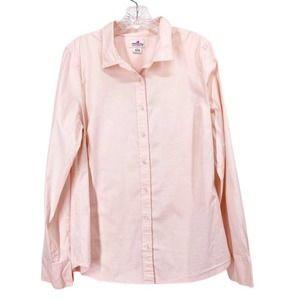 J. Crew Haberdashery Pink Cotton Button Up Shirt L